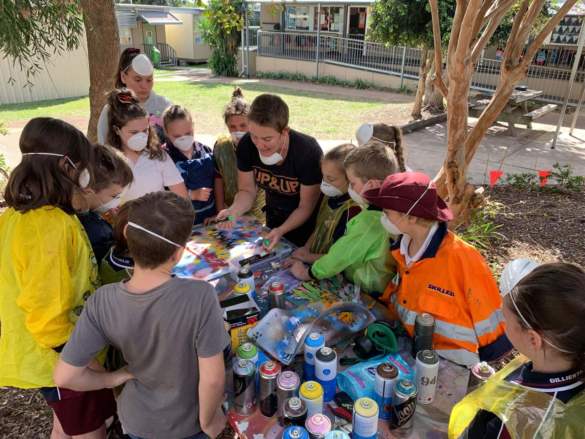 Up&up, Newcastle nsw, Graffiti and Street Art Workshops, Mural Programs, Community engagement